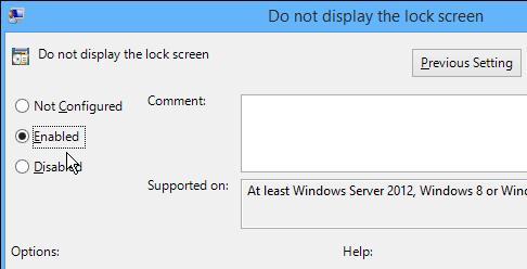 Як відключити екран блокування в Windows 8.1 - GPO