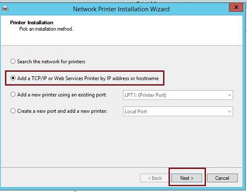 Установить tcp-ip принтер