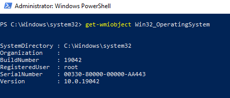 powershell проверка работы wmi командой get-wmiobject