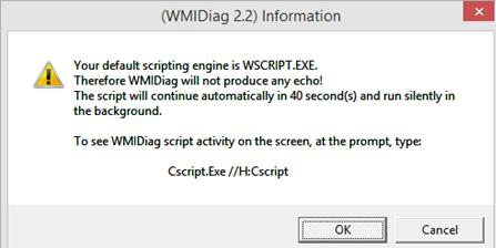 скрипт для исправления ошибок WMI WMIDiag.vbs