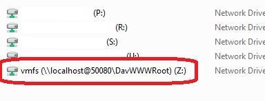 Підключити vmware vmfs розділ як диск в Windows