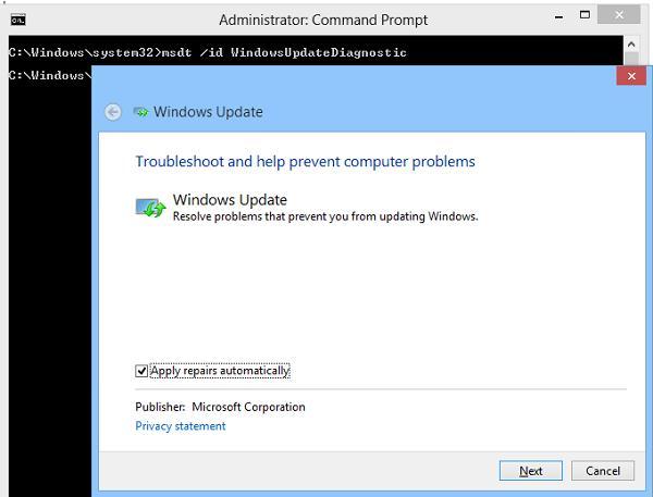 Засіб усунення несправностей Windows Update