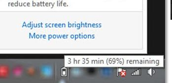 Иконка батареи в трее windows