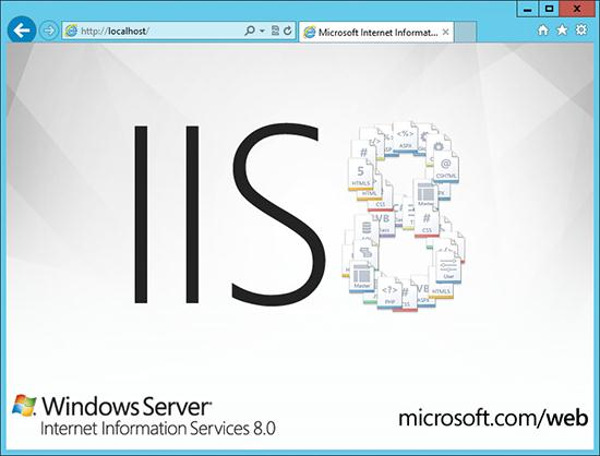 iis8 splash screen windows 2012