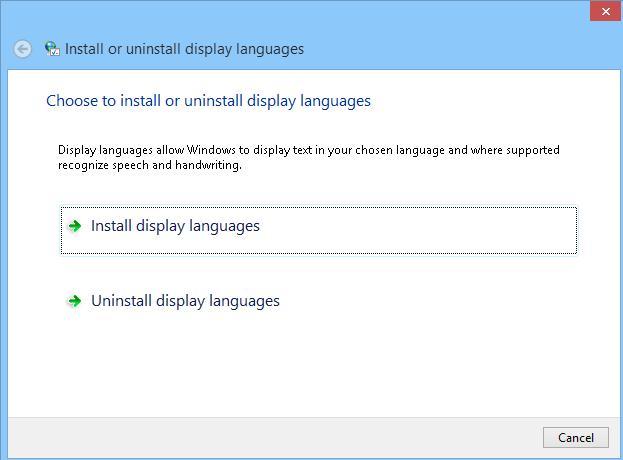 lpksetup- установка/удаление языкового пакета в Windows 8 / Server 2012