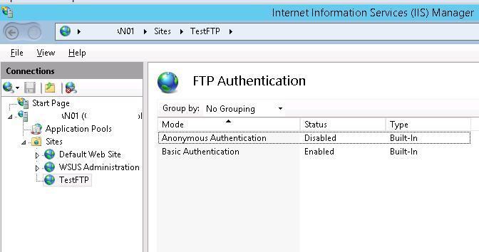 Налаштування fpt-аутентифікації