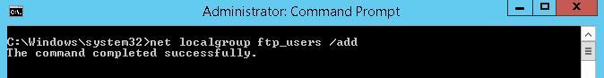 Створюємо групу користувачів ftp