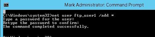 Створюємо користувача ftp