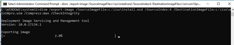 конвертація install.esd образу в install.wim