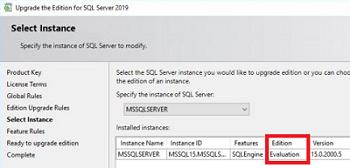 обновление evaluation редакции SQL Server 2019
