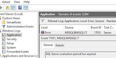 ошибка SQL Server evaluation period has been expired.
