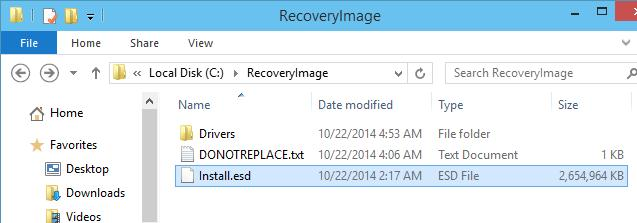 C:  RecoveryImage  Install.esd