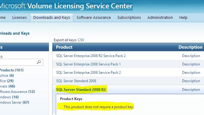sql server standart 2008r2 volume license не вимагає введення ключа