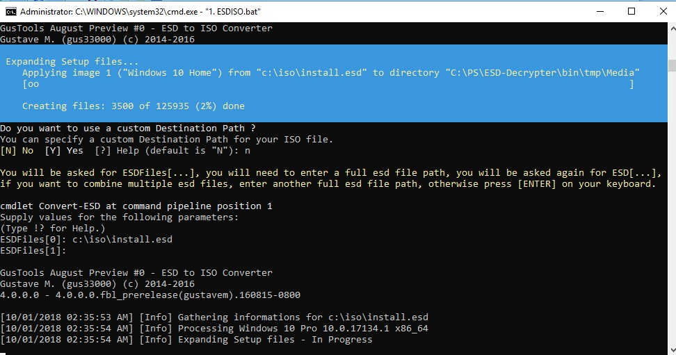 утиліта ESD-Decrypter для конвертації образу