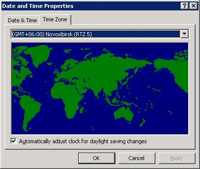 Готовые тайм зоны для Windows XP