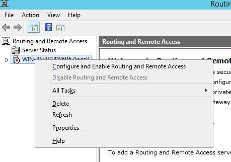 Налаштування служби RRAS в Windows Server 2012 r2