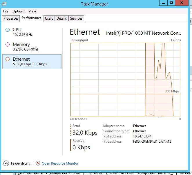 Загрузка LAN интерфейса ethernet с помощью iperf