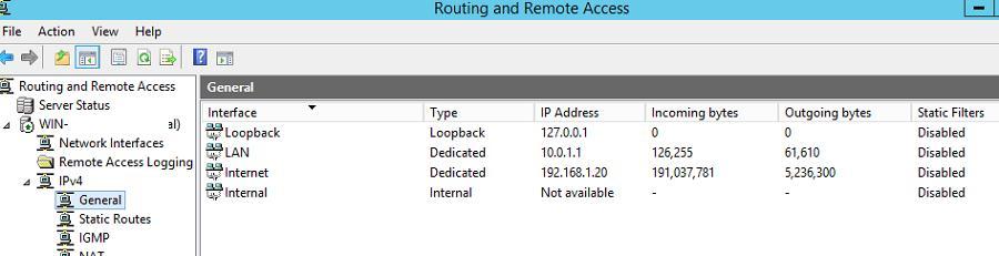Найпростіший роутер на базі Windows Server 2012 R2