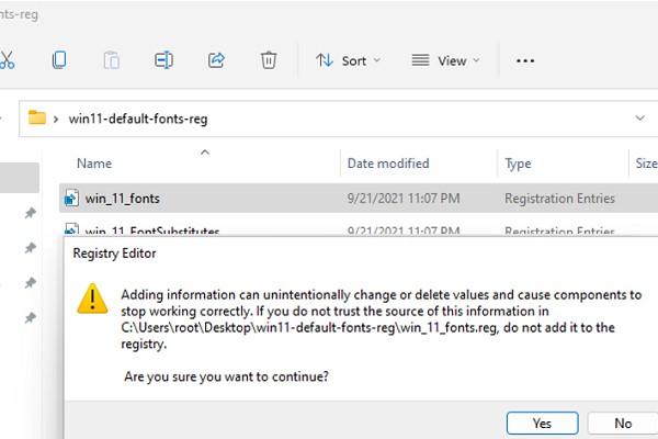 восстановить стандартые настройки шрифтов в реестре windows