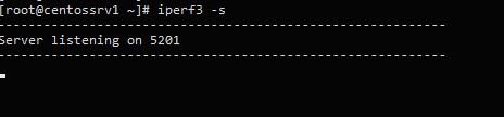 запуска iperf3 сервера на примере centos