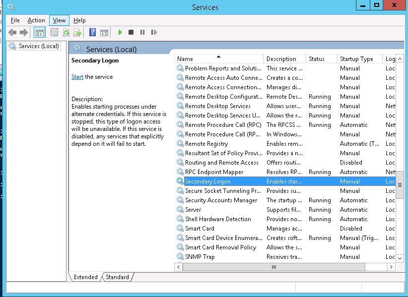 Скрыть службу в Windows