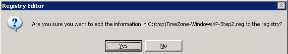 Импорт часовых поясов в Win XP через реестр