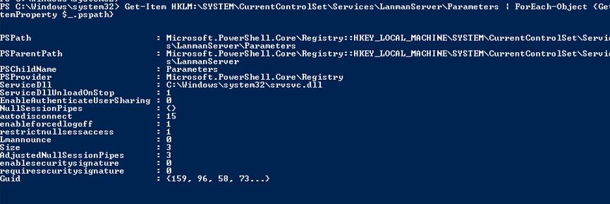 проверить какие версии smb включены в windows