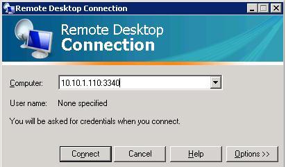 RDP подключение на другой порт
