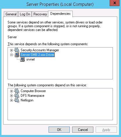 Поддержка SMB 1 в Windows Server 2012 R2 отключена