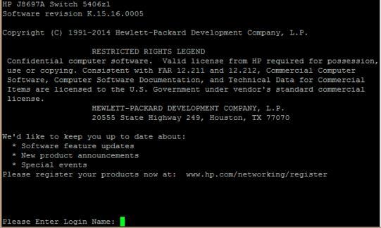 Доменна авторизация на коммутаторе HP ProCurve