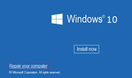 windows 10 запуск среды восстановления компьютера с загрузочного диска