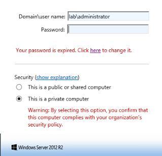 Необходимо изменить истекший пароль