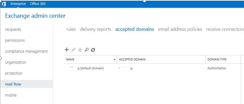 exchange как добавить accepted domains, не путать с разрешенными доменами