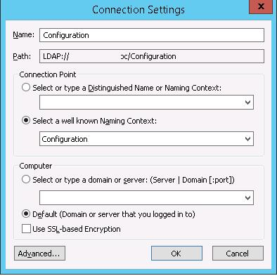 Select a well known Naming Context  - Configuration