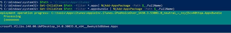 установка appx с зависимостями в windows 10