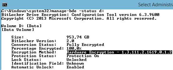 Encryption Method:     Hardware Encryption - 1.3.111.2.1619.0.1.2