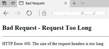 IIS ошибка kerberos аутентфикации http error 400 bad request too long
