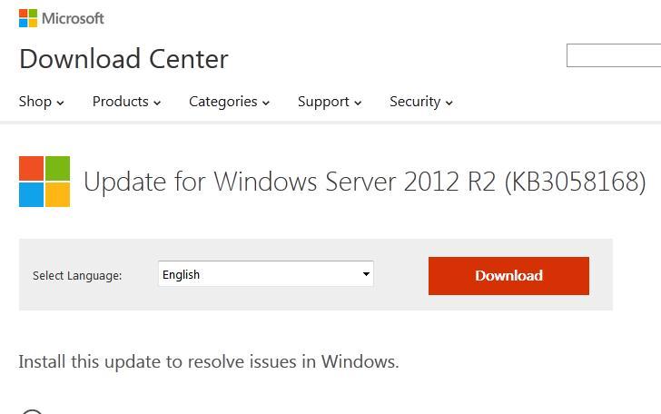KB 3058168 для поддерки KMS активации Windows 10 на Windows 8.1 и Windows Server 2012 R2