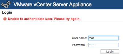 Забыт пароль root на VMware vCenter Server Appliance