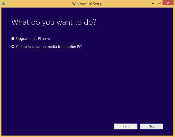 Создать установочный образ Windows 10