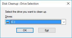 Выбор диска в утилите Очитска диска