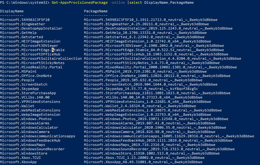Get-AppxProvisionedPackage - список staged приложений в windows 10