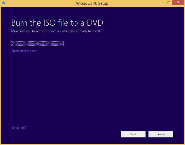 Образ Windows 10 готов
