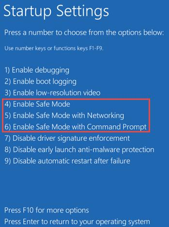 Включить Safe Mode в windows 10
