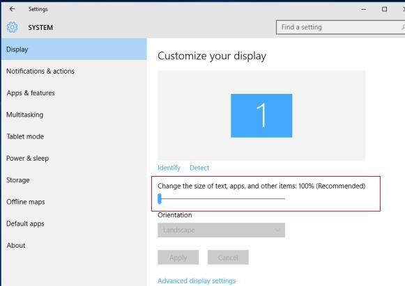 Изменить настройки DPI в Windows 10