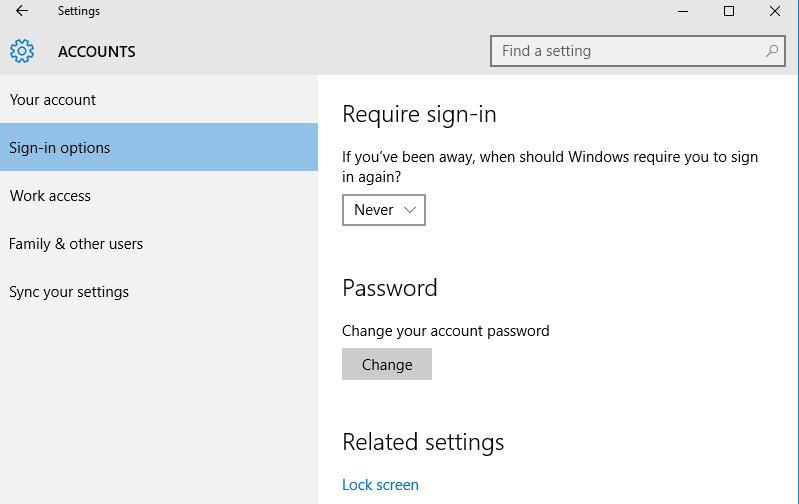 Отключить запрос пароля при выходе из режима сна