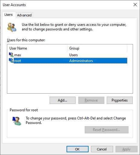 отсуствует чекбокс для настройки автоматического входа без пароля в новых билдах windows 10 20H1 и 20H2