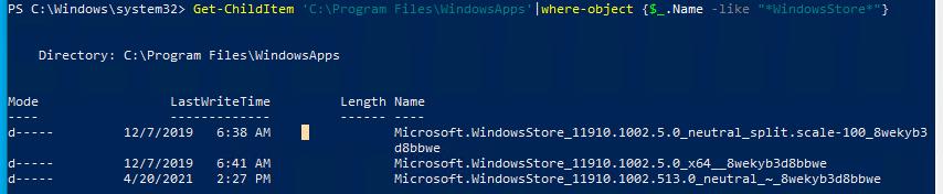 регистрация Microsoft.WindowsStore через файл AppXManifest.xml