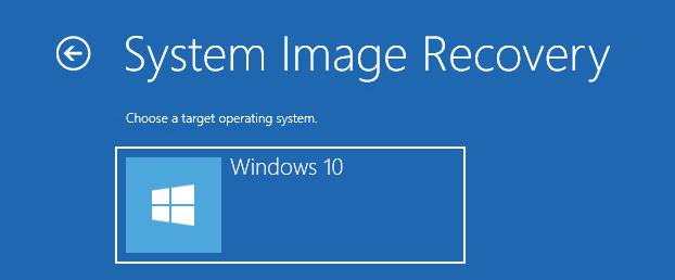 system image recovery