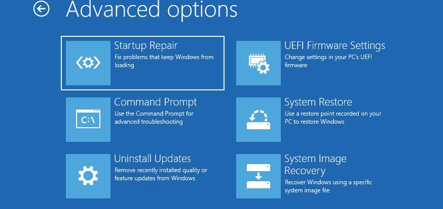 system restore восстановление образа Windows 10 из резервной копии